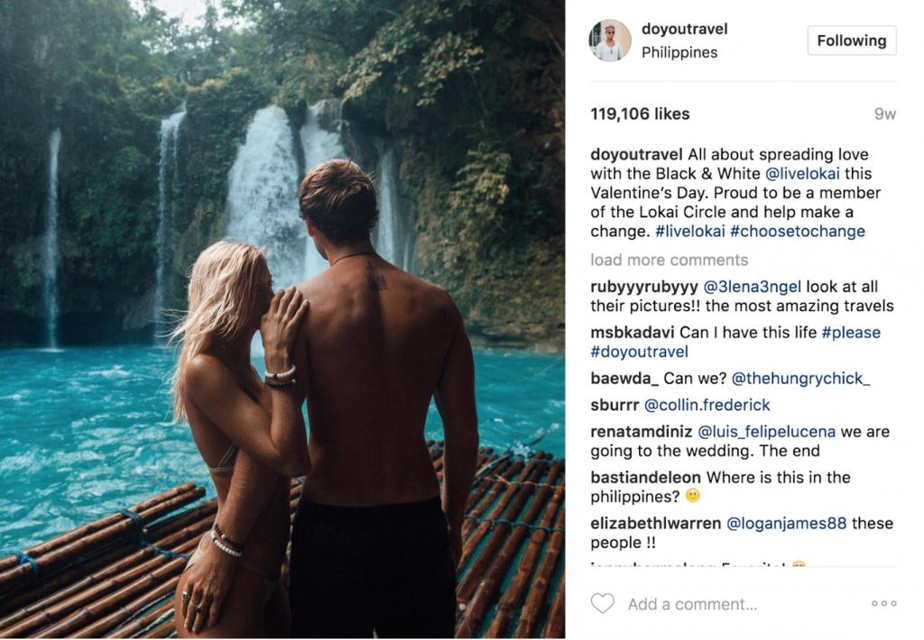 Example of Jack Morris' Instagram page