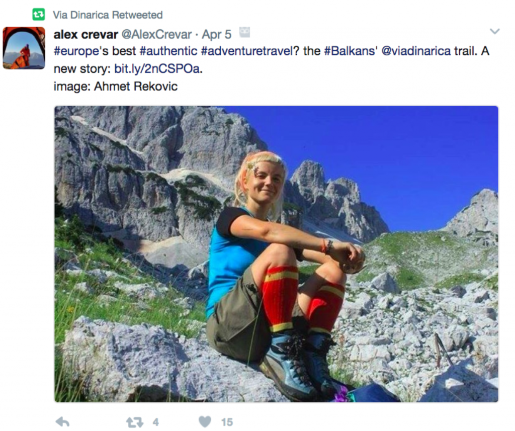 Alex Crevar Tweets to Travelers