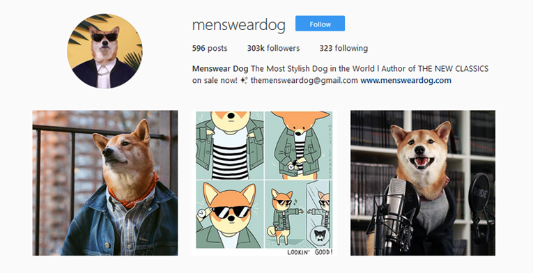 Menswear Dog's use of animals to attract attention