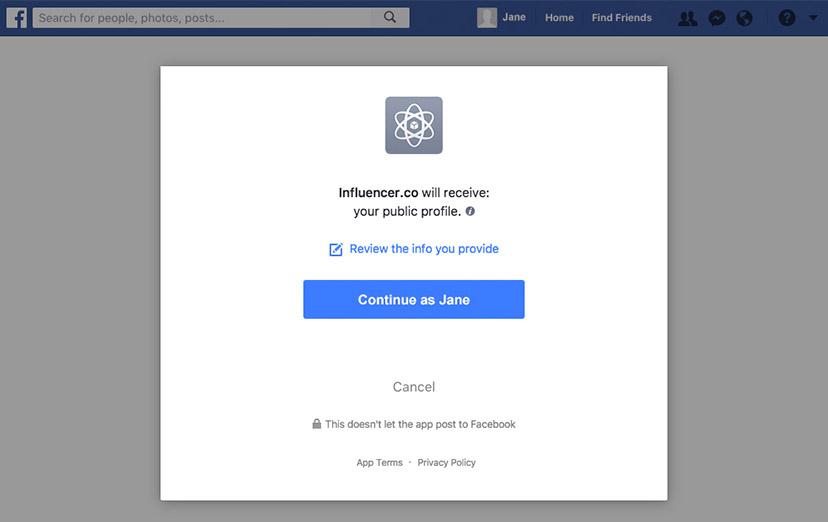 Influencer FaceBook Verify